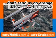 Don't send us an orange lifeboat - we'll sue you!